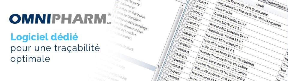 OMNIPHARM : logiciel dédié pour une traçabilité optimale