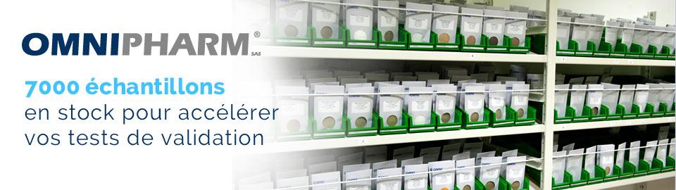 OMNIPHARM : 7000 échantillons en stock pour accélérer vos tests de validation