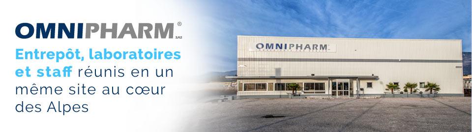 OMNIPHARM : entrepôt, laboratoires et staff sur un même site en Rhône-Alpes