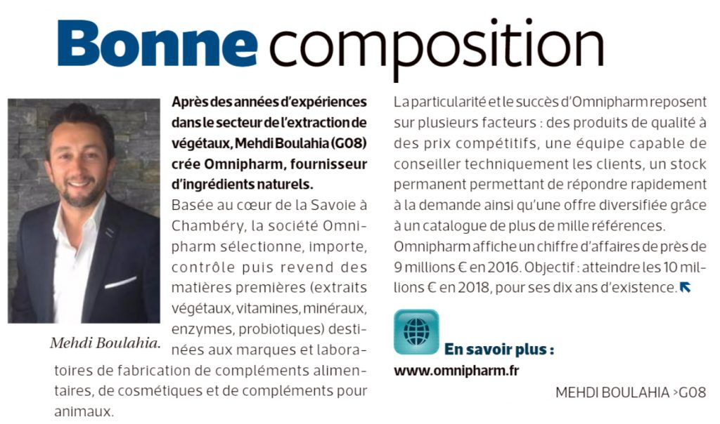 Article de presse - Omnipharm
